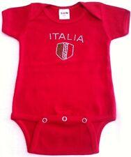 Red Italia Rhinestone Baby Jumpsuit Bling Novelty Italian Present Bambini New