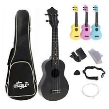 "4 corde 21"" Ukulele Uke Kit completi Acoustic Colorful Hawaii Guitar for Kids"