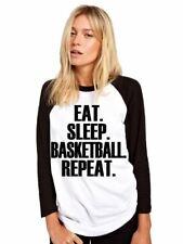 Eat Sleep Basketball Repeat Baseball Top Player Gift Base Ball Tee Girls Shirt