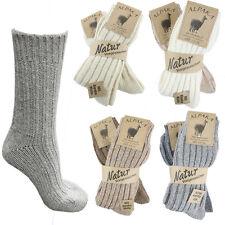 Sonia Originelli Alpaka Socken Strümpfe Wolle Winter Schafwolle warm Natur S11W