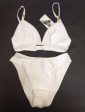 2 pcs Soutien-gorge Sous-Vêtements Set Blanc Femme Maillots de bain natation Job Lot UK