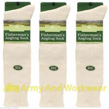 3 pares de calcetines de lana de arranque de Pescadores Pesca país Pursuit hasta la Rodilla Térmico De Pesca