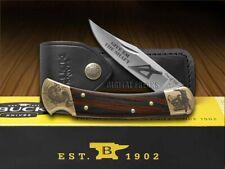 BUCK 110 Give'em the Shaft Ebony Wood Folding Hunter 1/250 Stainless Knife
