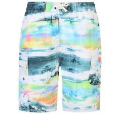 Kam para Hombre Pantalones Cortos De Playa De Impresión De Palma (399) en Menta/Blanco en tamaño de 2XL a 8XL