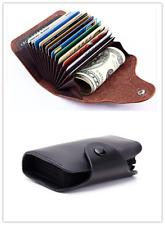 Genuine Leather Wallet Credit Card Holder Case Business Card Package Men/Women