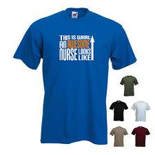 """""""esto es lo que un impresionante enfermera se ve como 'Navidad Cumpleaños Camiseta Camiseta Graciosa"""