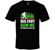 Unique Bigfoot Saw Me But Nobody Believes Him Mens Black T-shirt