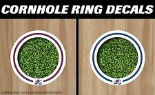 Colorado Avalanche White Cornhole Ring Bag Toss Cast Vinyl Hd Hole Decals