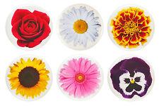 """Flower Fridge Magnets - 32mm (1.25"""") - Rose, Sunflower, Daisy, - Gift & Kitchen"""