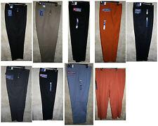 Croft & Barrow Flat/Pleat front Long pants 4 pocket zipper Dress Corduroy Khaki