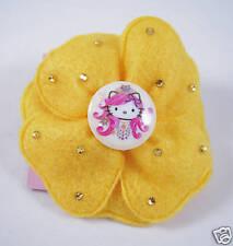 Tarina Tarantino Pink Head Felt Flower Hairclip CANARY