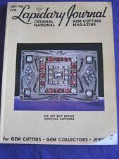 LAPIDARY JOURNAL - BELT BUCKLE MONTANA SAPPHIRES - July 1982 v 35 # 4