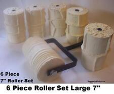 """6 Concrete Cement Landscape Curbing Imprint Rollers 7"""""""