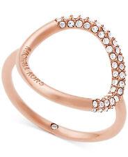 MICHAEL KORS MKJ5859 Brilliance Pave Crystal Open Circle Ring MKJ5859791