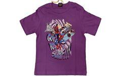 T-shirt da bambino viola MauiandSons manica corta girocollo squalo junior