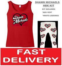 Shawn Hbk Michaels FANCY DRESS LUCHA LIBRE LUCHADOR Chaleco y Pantalones Retro