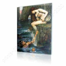 READY TO HANG CANVAS The Siren Waterhouse Framed Art For Bedroom Framed Artwork