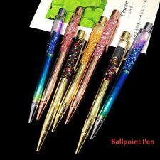 Fashion Rainbow Color Crystal Diamond Ballpoint Pens Office School Writing Tool