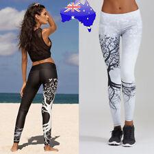 Women Sports Yoga Workout Leggings Gym Fitness Long Skin Jogging Pants Trousers