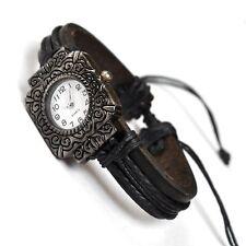 B-WARE 5 Stück Leder Armband Uhr Herren Damen Armbanduhr Surfer Lederarmband
