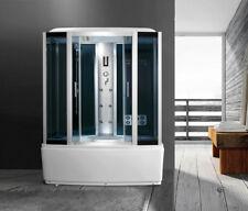 cabina idromassaggio 170x85 box doccia con vasca con o senza bagno turco sauna|1