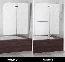 Badewannen 2 tlg. Faltwand Aufsatz Duschwand Duschabtrennung Dusche Höhe 140 cm