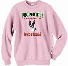 Dog Sweatshirt - Property Spoiled Rotten Boston Terrier Men Women Cat T Shirt #5