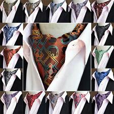 Men High Quality Paisley Floral Cravat Wide Ties Polka Dots Ascot Scarf Hot Sale
