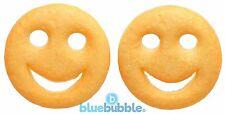 Bluebubble AMERICAN DINER Smiley Face Stud Earrings Novelty Junk Food Kawaii Fun