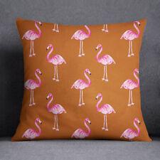 S4Sassy rouille Orange Flamingo imprimé couverture Throw oreiller taie