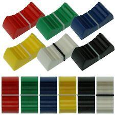 4mm & 8mm Fader Caps - 6 Colours - Mixer Slider Pot / Potentiometer Knobs