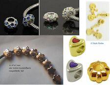 Großlochperle Schmuckperlen Bastelperlen European Beads Metalllegierung