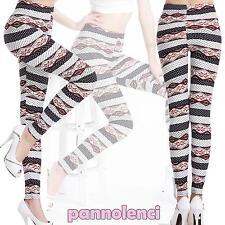 Leggings mujer fantasía geométrico patrón ajustado pantalones nuevo DL-1107