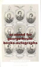 CIVIL WAR GENERALS OF THE POTOMAC~9 PORTRAITS~1860s