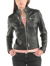 Women Leather Jacket Soft Solid Lambskin New Handmade Motorcycle Biker S M # 78