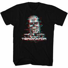 Terminator Glitch Black Adult T-Shirt
