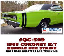 QG-529 1968 DODGE CORONET - R/T BUMBLE BEE  STRIPE KIT