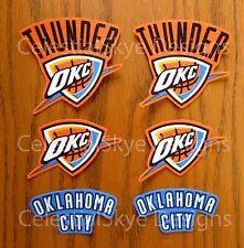 Iron On Sew On Transfer Applique Oklahoma City Thunder Cotton Fabric Patch Set