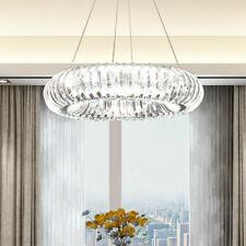 LED Circle ring Crystal Ceiling Lamp Restaurant Chandelier lobby Pendant Light