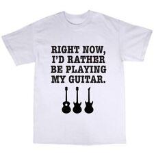Electric Guitar Player T-Shirt Premium Cotton Guitarist Gift Present Rock