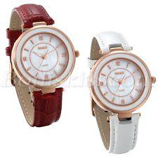 Fashion Casual Women's Artificial Shell Dial Leather Strap Quartz Wrist Watch