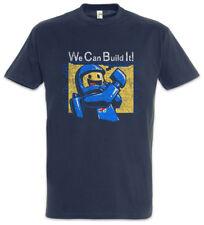We Can Build It T-Shirt Fun bricks Astronaut Space Cosmos Planet Steine