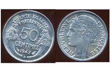 50 centimes MORLON  alu  1947 B    TTB   ( bis )
