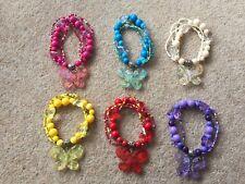 Handmade Acrylic Butterfly Beads Elasticated Bracelets
