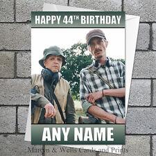 Detectorists birthday card: Personalised, plus envelope.