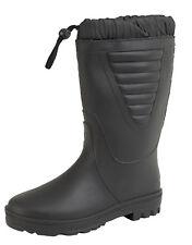 Unisex Tie Top Black Polar Boots Faux Fur Lined Winter Waterproof Wellies 4 - 12
