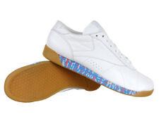 Reebok Classic Freestyle faible vieux rencontre New Women's Blanc Baskets Chaussures En Cuir