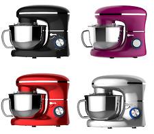 Heska 1500W Stand Food Mixer, 5.5L Bowl Cover & 4 Mixing Attachments Dough Maker