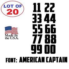 Lot of 20 White,Black Vinyl Street Address,Mailbox Number Decal Stickers AMERICA