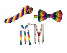 Rainbow Bretelle & Papillon Costume Pantaloni Bretelle & Pre-Legato Papillon Stile 2